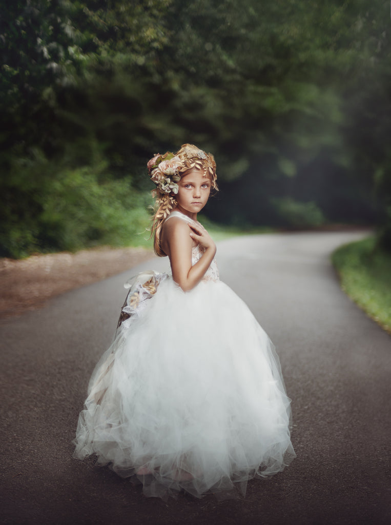 Flower Girl Tutu Dress - Honey