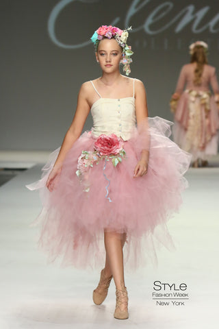 Blush tutu with corset-Rogan
