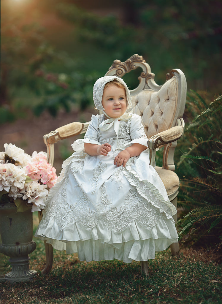 Christening Victorian dress for toddlers-Kate