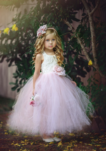 Young girls tutu style flower girl dress-Olivia