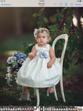 """Anna"" Eyelet cotton toddles dress-photoprop-flower girl-Easter"
