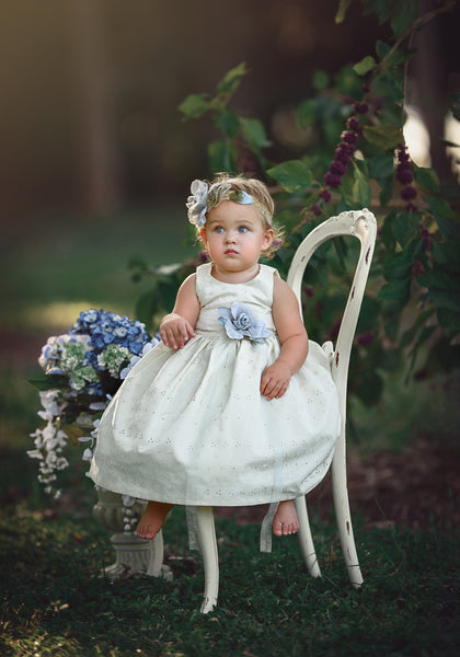 """Anna"" Eyelet cotton toddles dress-photoprop-"