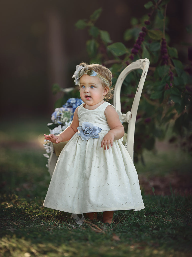 Toddlers cotton dress for after Baptism