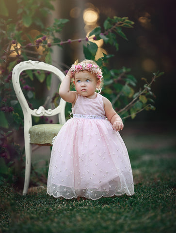 Lace baby girl dress for toddlers-Claire