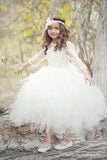 Comunion Long slevess dress-Flowergirl-Bridal-Candace - ElenaCollection  - 4