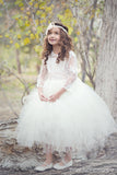 Comunion Long slevess dress-Flowergirl-Bridal-Candace - ElenaCollection  - 3