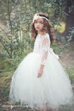 Comunion Long slevess dress-Flowergirl-Bridal-Candace - ElenaCollection  - 9