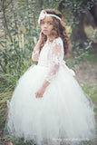 Comunion Long slevess dress-Flowergirl-Bridal-Candace - ElenaCollection  - 7