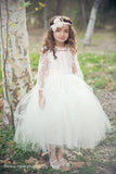 Comunion Long slevess dress-Flowergirl-Bridal-Candace - ElenaCollection  - 10