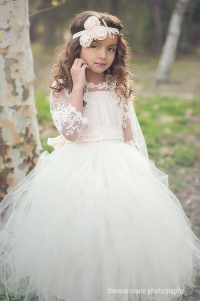 Comunion Long slevess dress-Flowergirl-Bridal-Candace - ElenaCollection  - 5