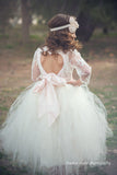 Comunion Long slevess dress-Flowergirl-Bridal-Candace - ElenaCollection  - 1