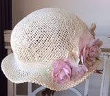 Baby Victorian Cottage Hat-Rosy - ElenaCollection  - 4