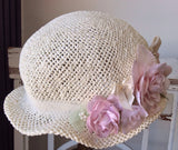 Baby Victorian Cottage Hat-Rosy - ElenaCollection  - 5