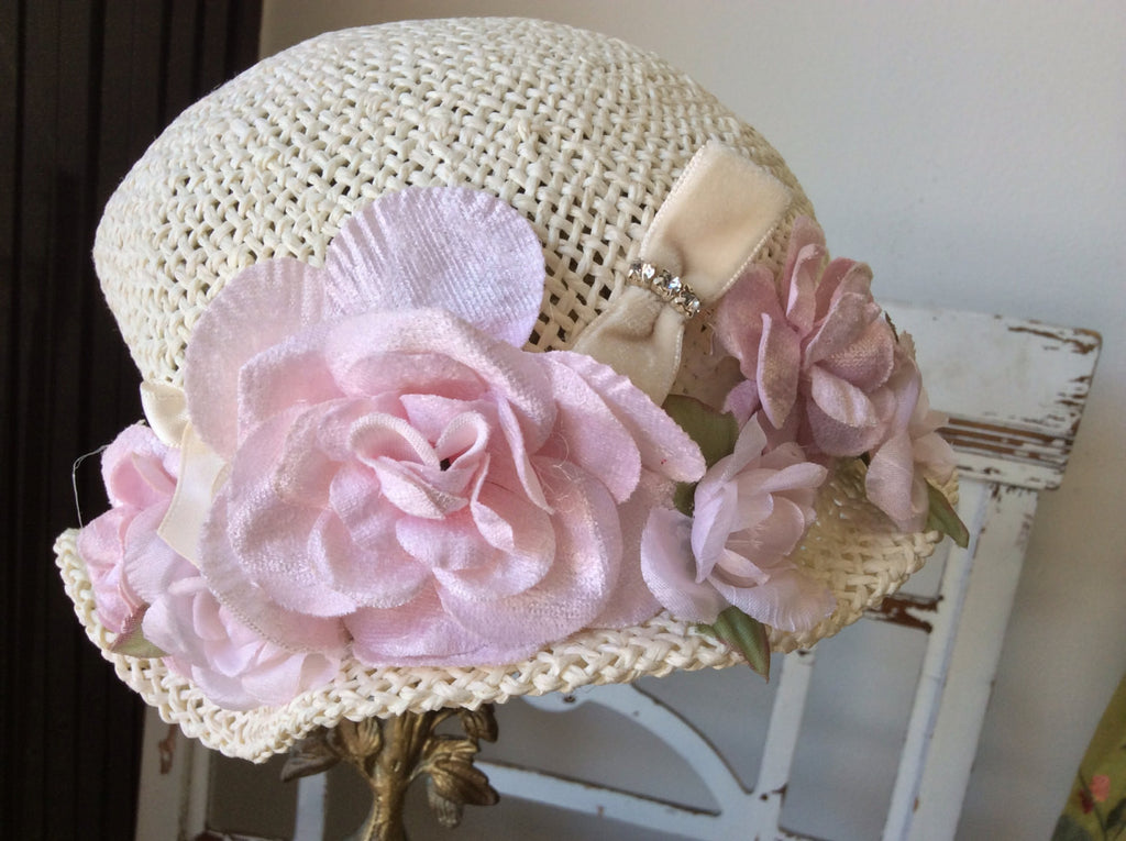 Baby Victorian Cottage Hat-Rosy - ElenaCollection  - 2