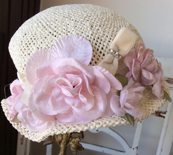 Baby Victorian Cottage Hat-Rosy - ElenaCollection  - 1