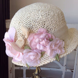 Baby Victorian Cottage Hat-Rosy - ElenaCollection  - 3