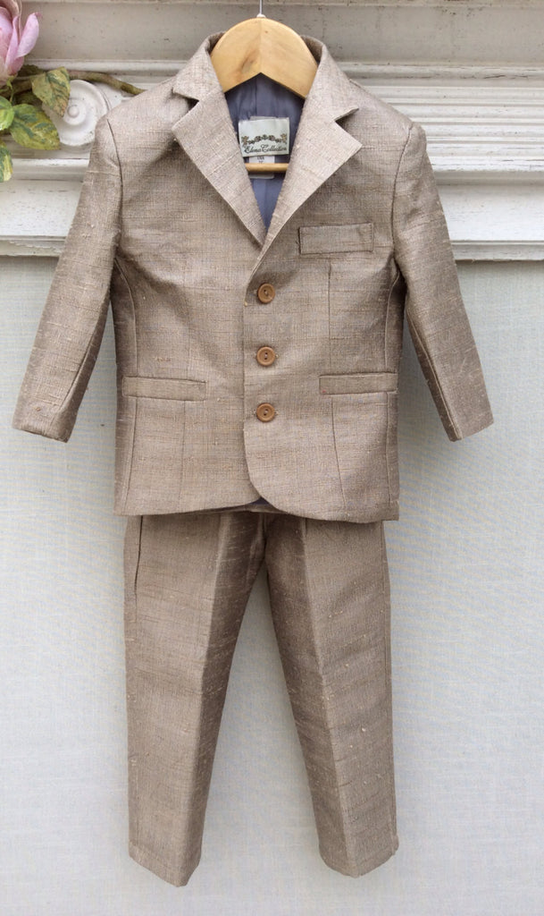 Ring Bearer Silk Suit VICTOR by Elena - ElenaCollection  - 1
