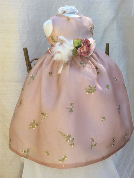 Infant silk hand dyed dress // Flower girl // - ElenaCollection  - 1