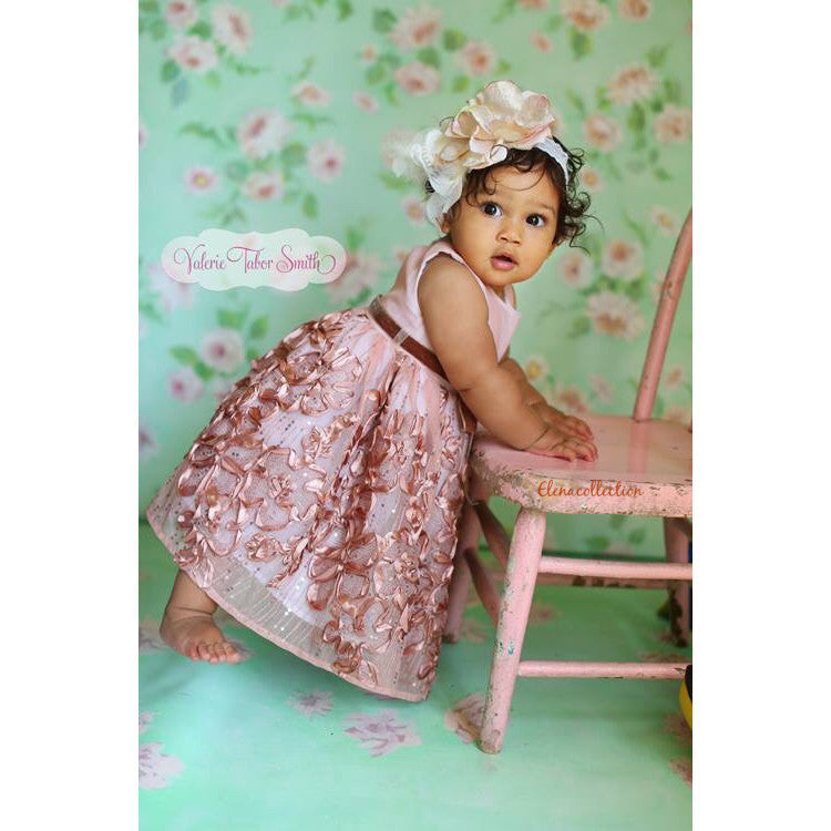 Nikita Baby Girl Dress - Photo prop - Special Occasion - ElenaCollection  - 5