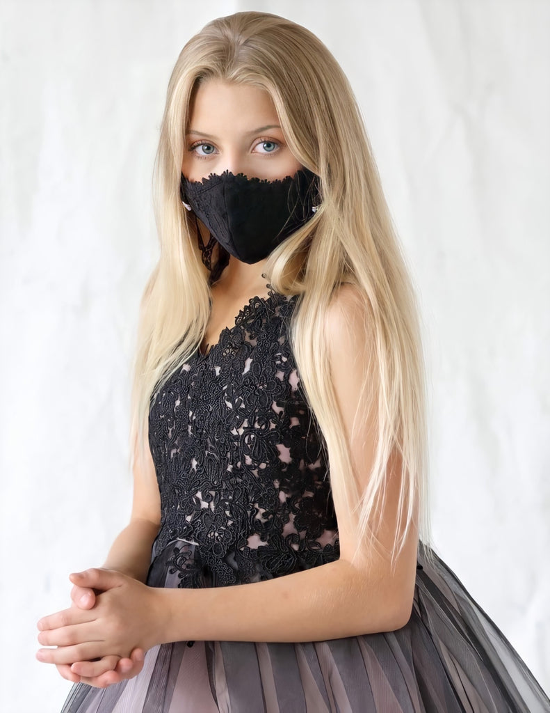 Black Lace Face Mask - Lillian