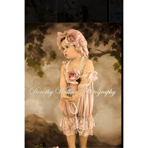 Dorothy Romper and Shower Cap - ElenaCollection  - 1
