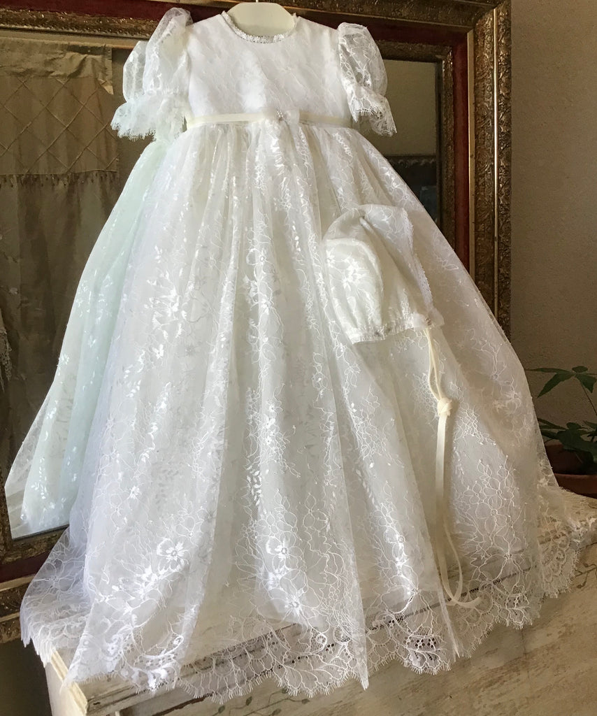 Lace Christening Gown for girls - Chantelle