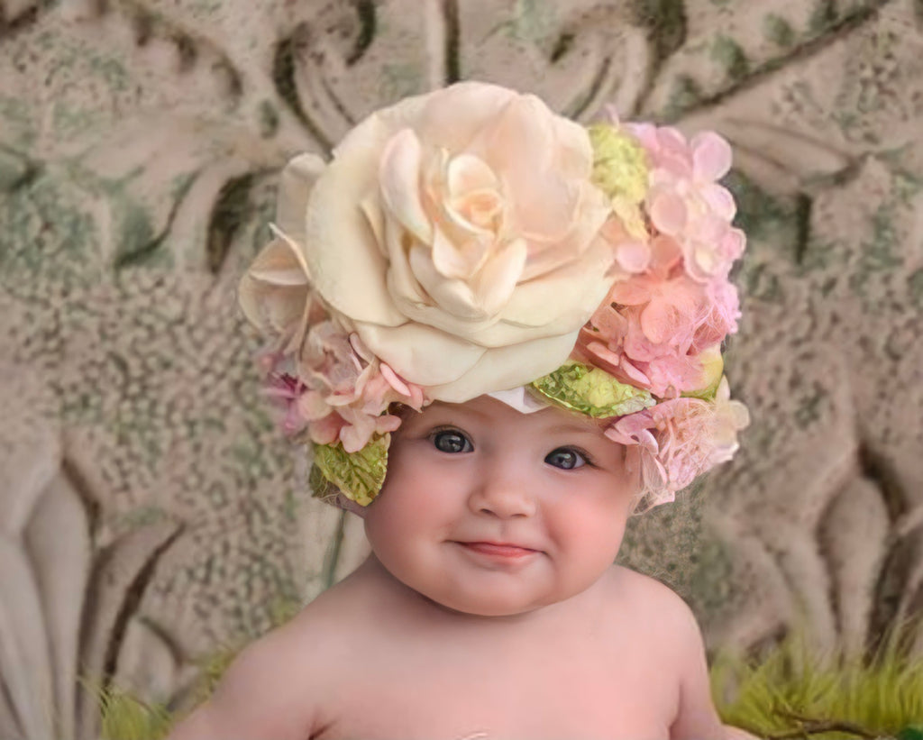 Floral Bonnet - Photo prop / Dulce