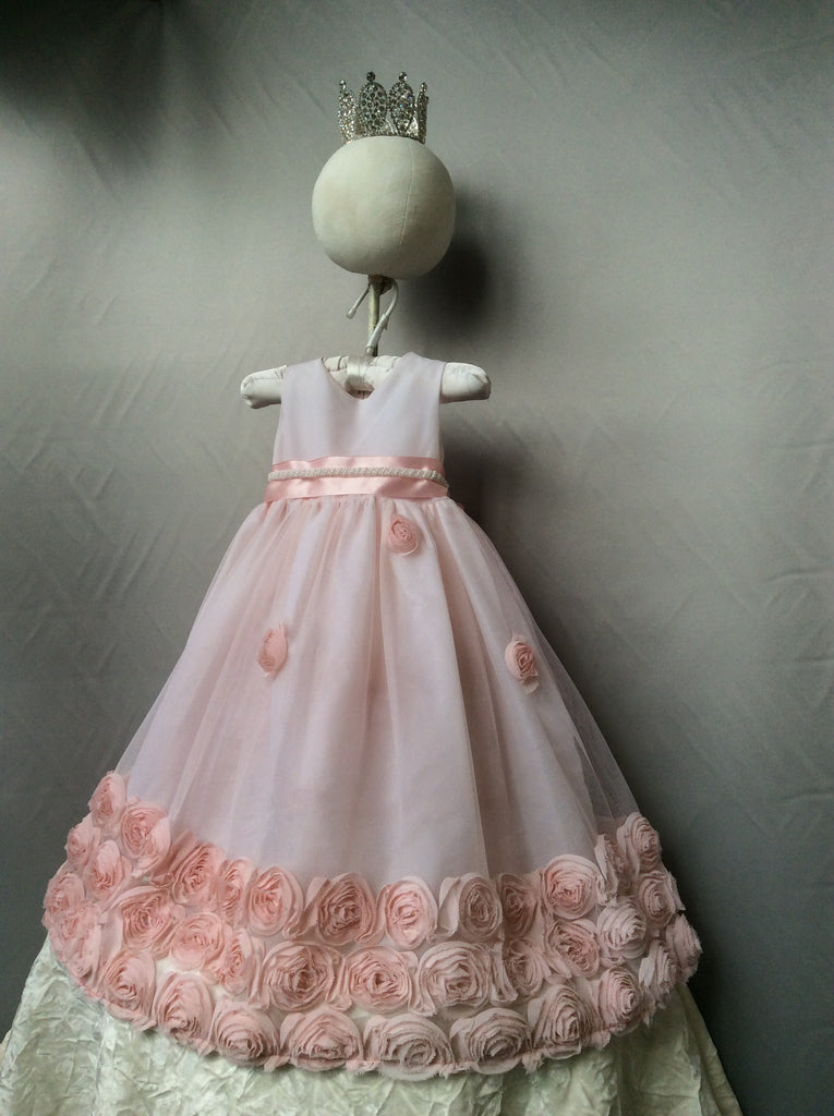 Flower baby girl dress-Baptism-Christening-Brandy - ElenaCollection  - 11