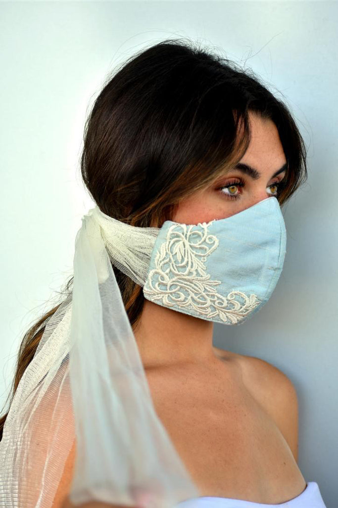 Bridal Silk Face Mask- Brianna