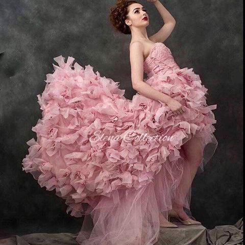 Gown for hire Couture Feather Dress -Moet