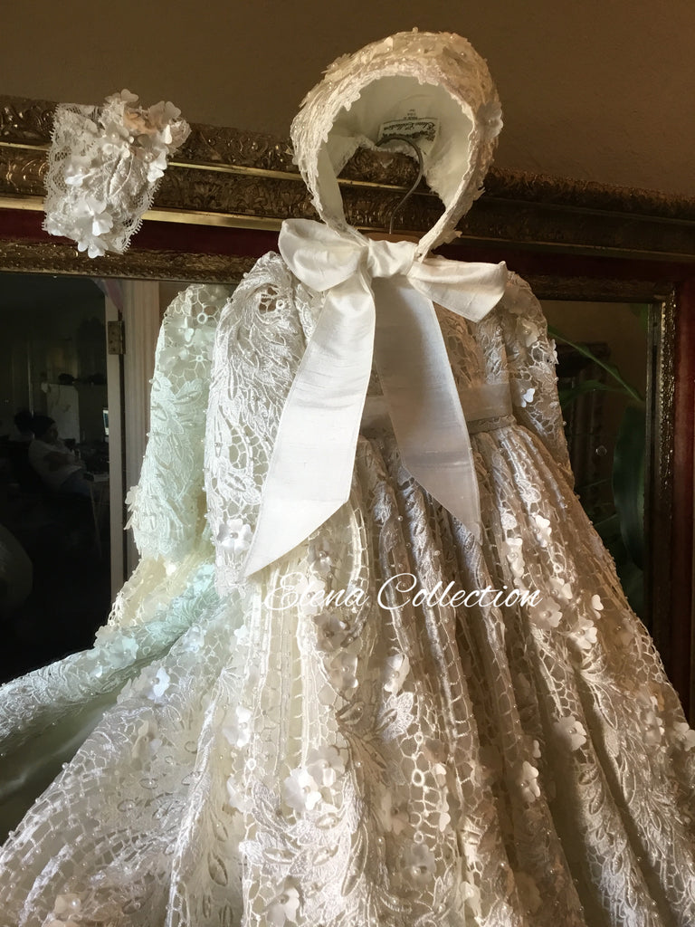 Christening Heirloom Gown with Bonnet for Boy or Girl - Jaden