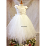Flower girl tutu dress-bridal-Divina - ElenaCollection  - 4