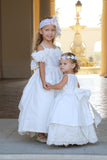 Comunion-Flower girl off the shoulder dress-Photo prop-Genesis - ElenaCollection  - 8