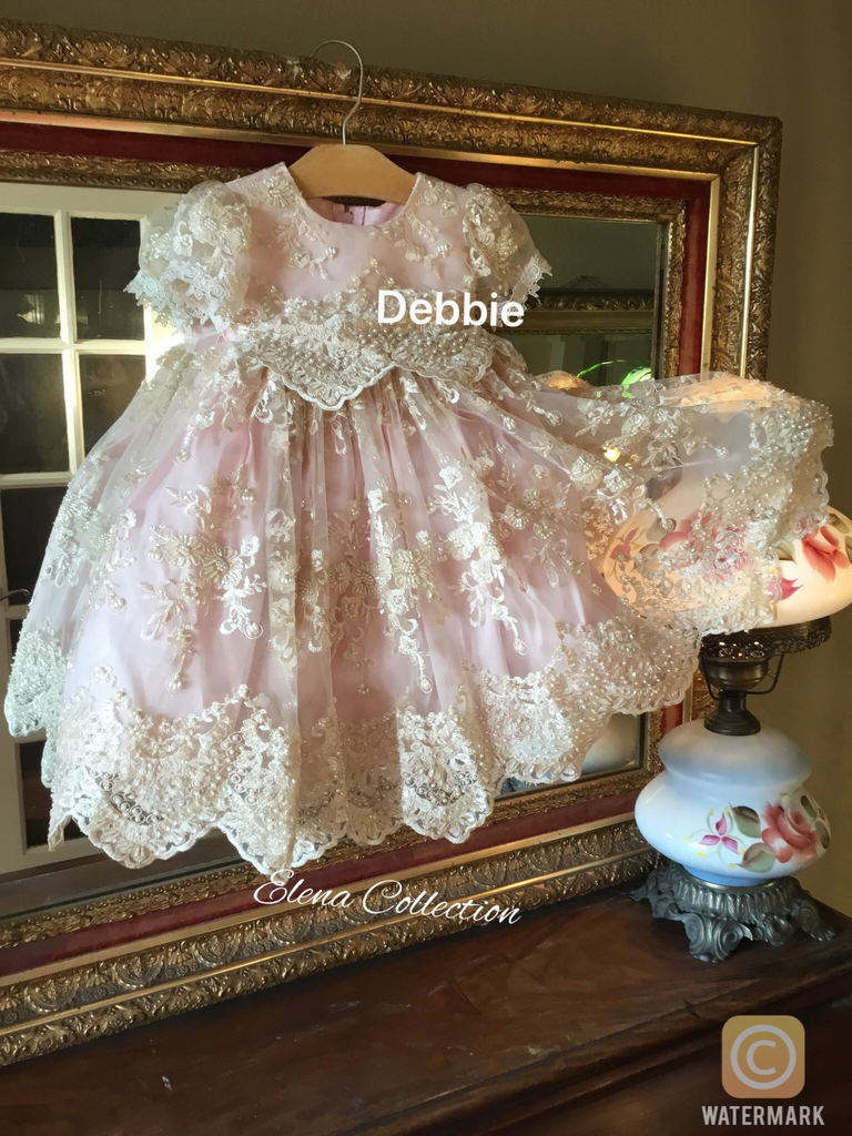 Christening Lace Dress -Cecilia