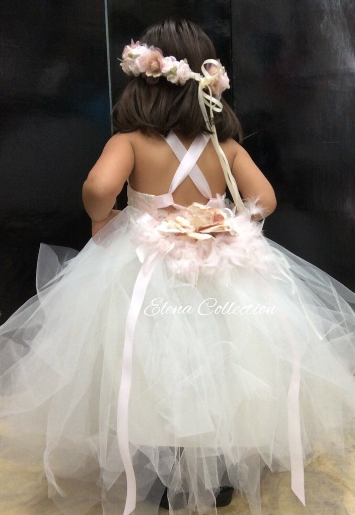Tutu dress flower girl-Valeria