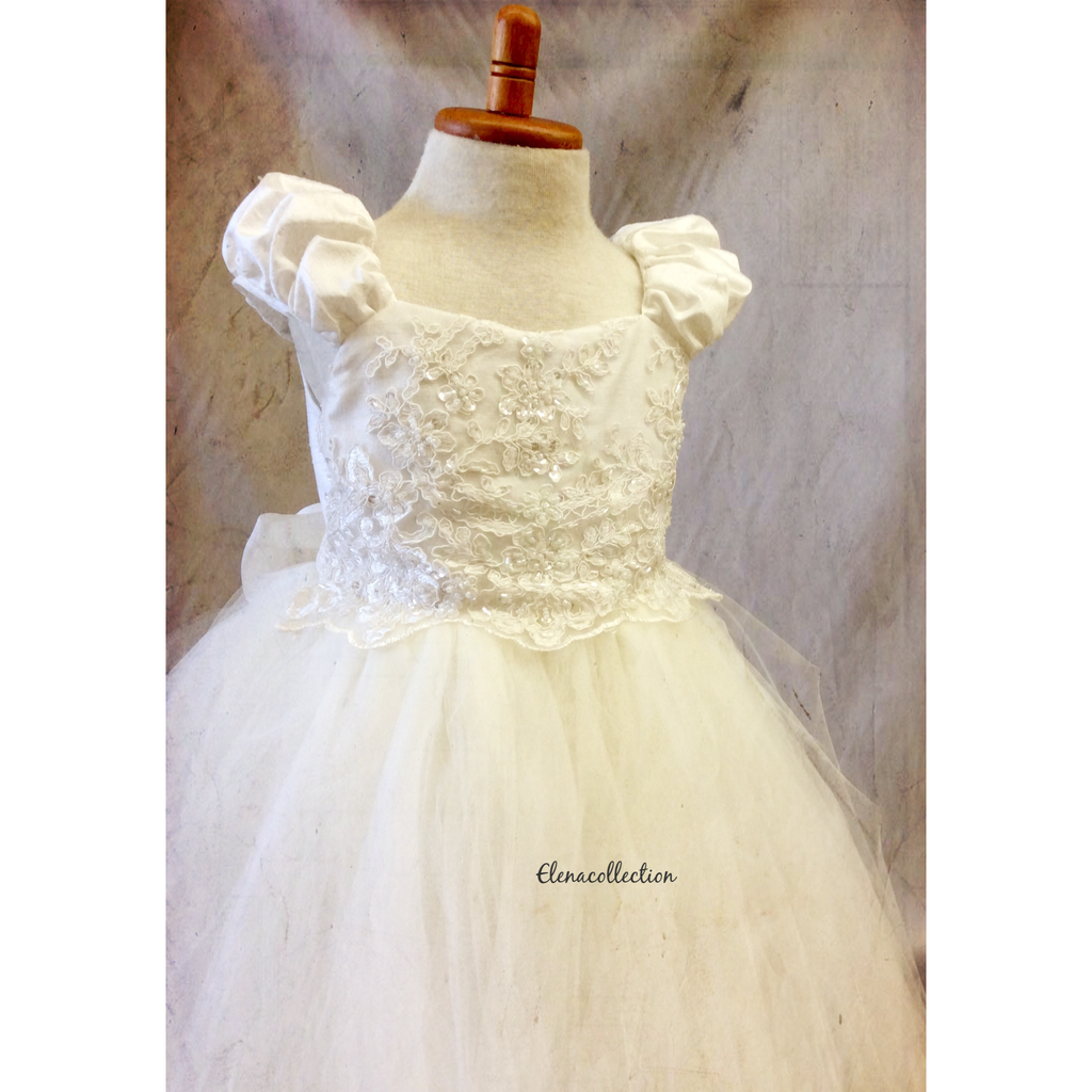 Flower girl tutu dress-bridal-Divina - ElenaCollection  - 2