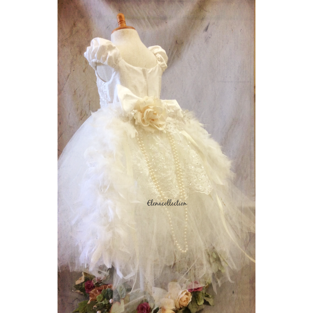 Flower girl tutu dress-bridal-Divina - ElenaCollection  - 3