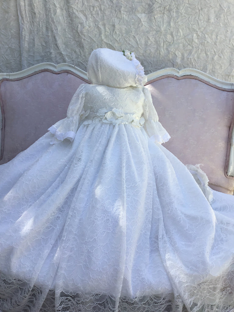 Lace Christening Gown-Alicia