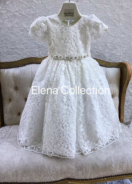 White lace toddlers dress-Olivia