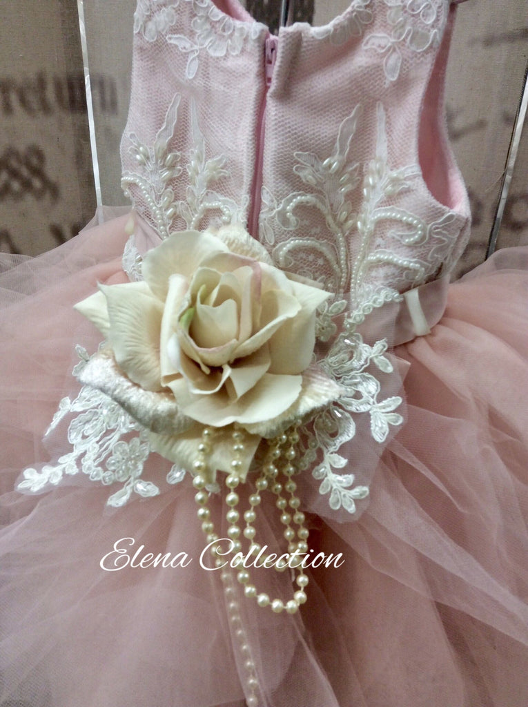 Flower girl tutu dress-Annabeth