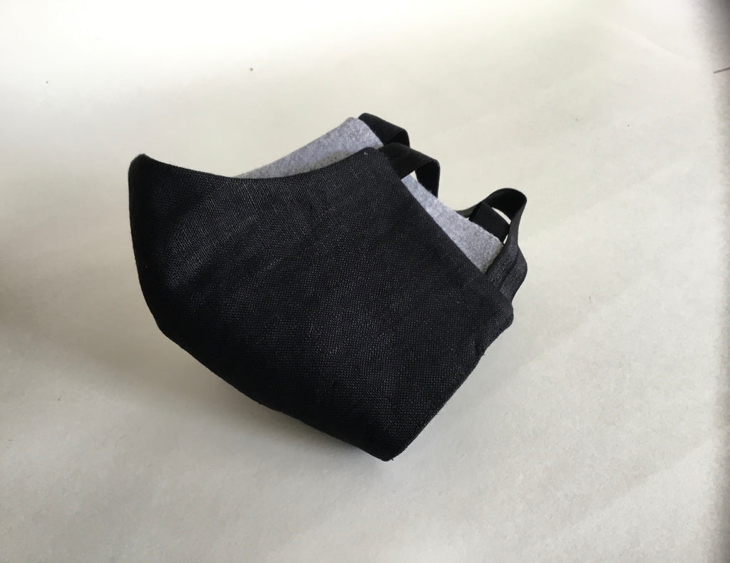 Linen Face Mask - Black