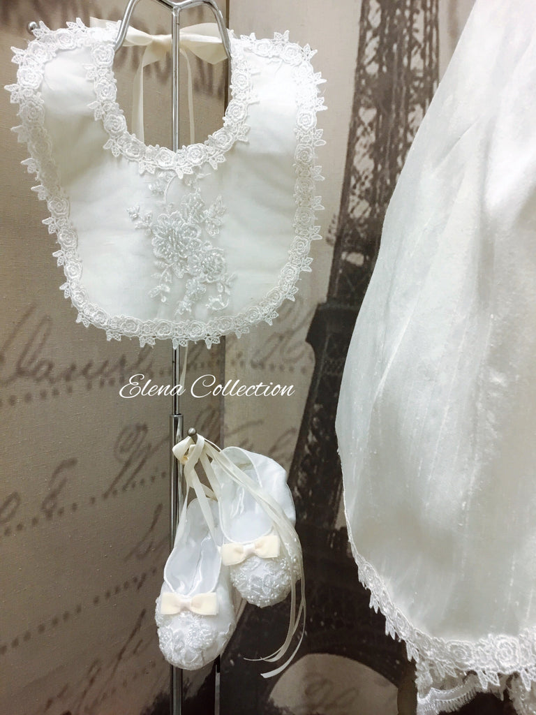 Jensen Silk Christening Gown & Bonnet (Boy/Girl)