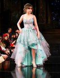 High low dress-Aqua