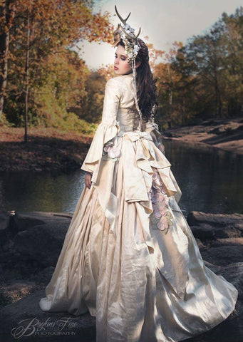 Victorian silk gown to rent-Photo-prop-styled shoots-vintage-Elana - ElenaCollection  - 1