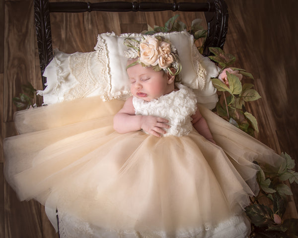 Flower girls tutu dress for infants-