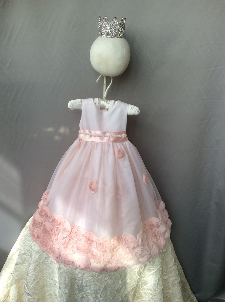 Flower baby girl dress-Baptism-Christening-Brandy - ElenaCollection  - 3