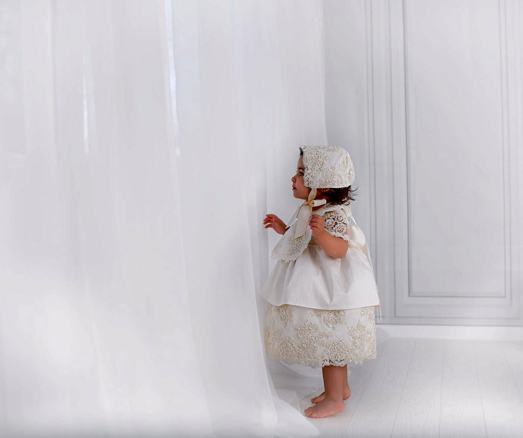 Silk Christening Dress- Daisy