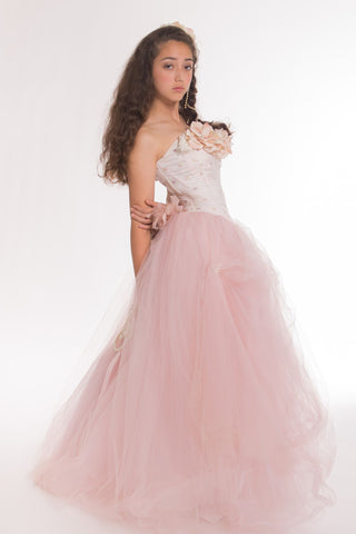 Blush Quinceanera Tulle Gown-Bridal-Prom-Isabel - ElenaCollection  - 1