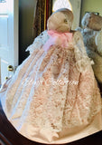 Blush christening gown-Melanie