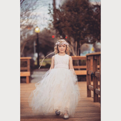Flower girl tutu dress-Bella